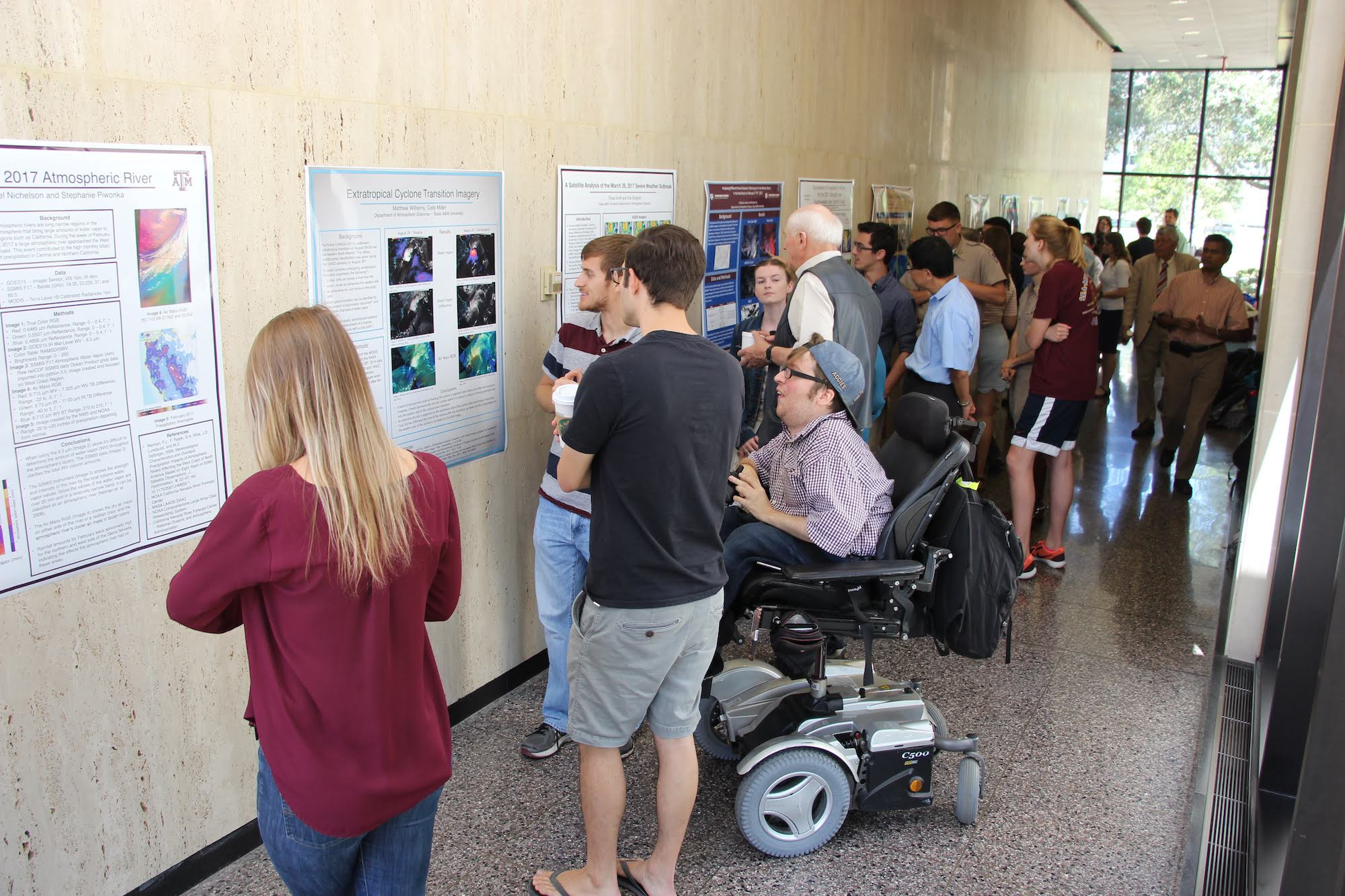 students at academic poster session
